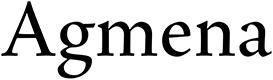 Agmena font
