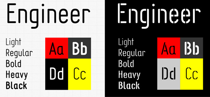 Engineer font
