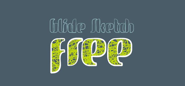 Glidesketch free font