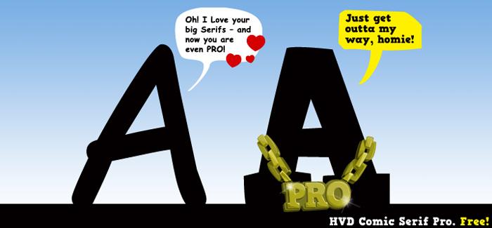 HVD Comic Serif Pro free font