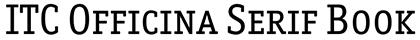 ITC Officina Serif font
