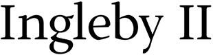Ingleby II font