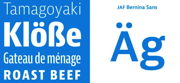 JAF Bernini Sans font