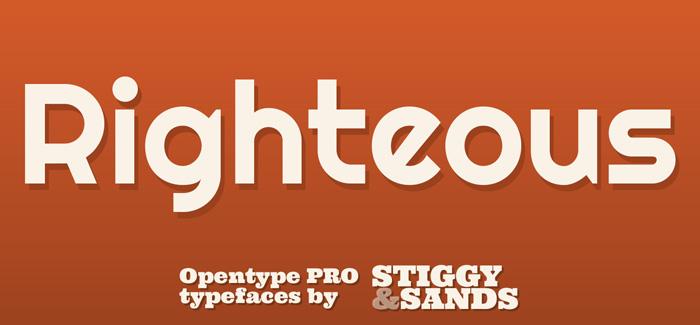Righteous Pro font