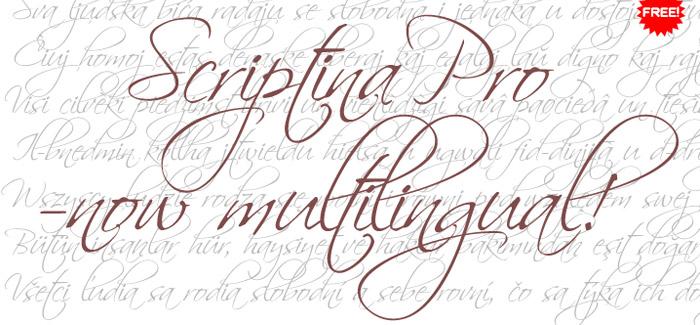 Scriptina Pro free font