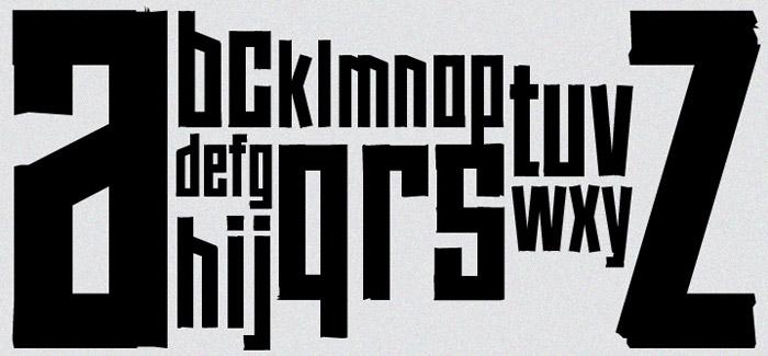 Tape free font