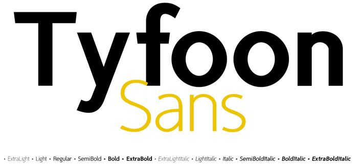 TyfoonSans font