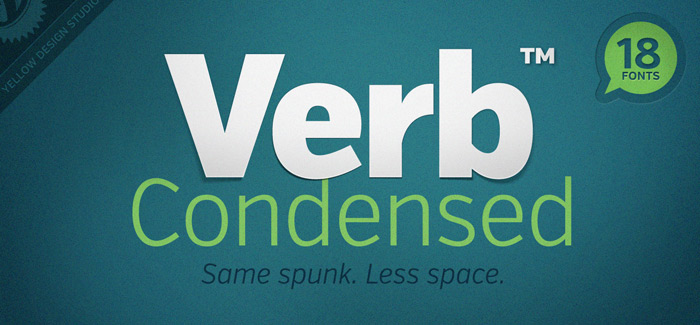 Verb Condensed font
