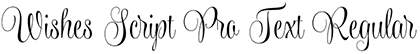 Wishes Script font