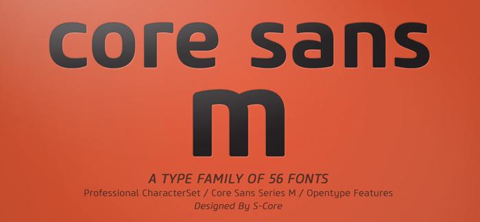 Core Sans M Family
