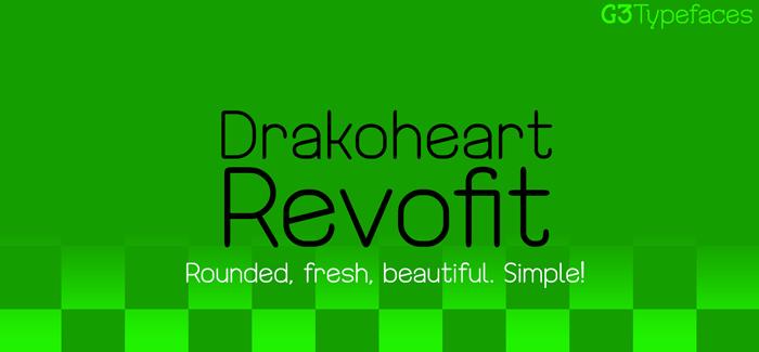 Drakoheart Revofit free font