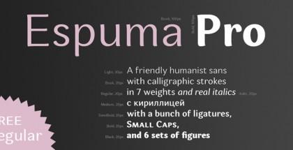 Espuma Pro free font