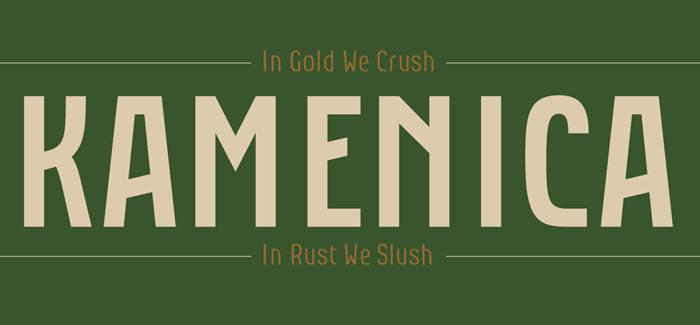 Kamenica font