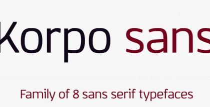 Korpo Sans font