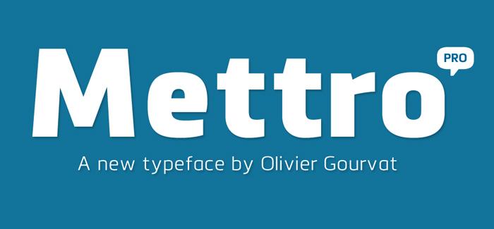 Mettro Pro font