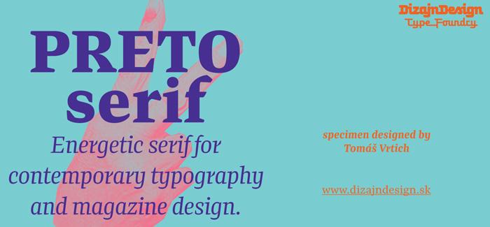 Preto Serif font