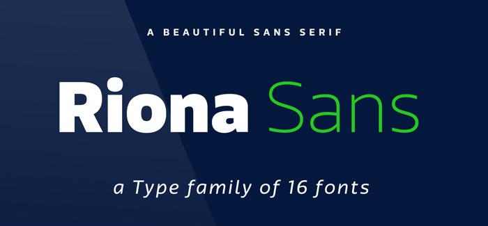 Riona Sans font