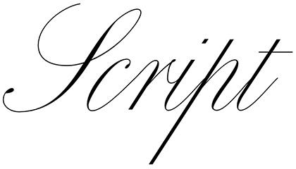 Script typeface