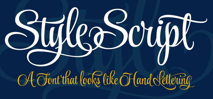 Style Script Font Looks Like Hand Lettering
