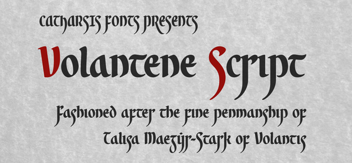 Volantene Script free font