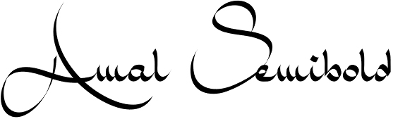 the amal font gets its inspiration from arabic calligraphy