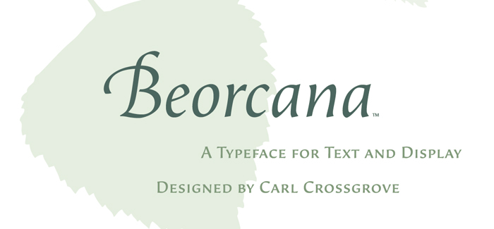 Beorcana font