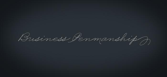 Business Penmanship font