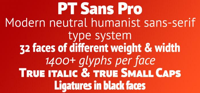 PT Sans Pro font