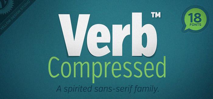 Verb Compressed font