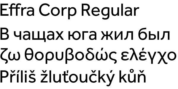 Effra Corp font