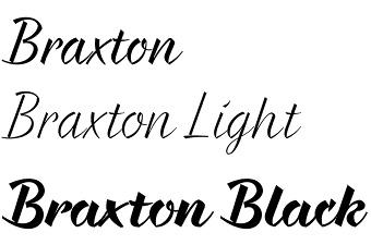 Braxton font