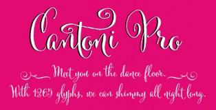 Cantoni font
