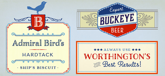 Charcuterie font by Laura Worthington