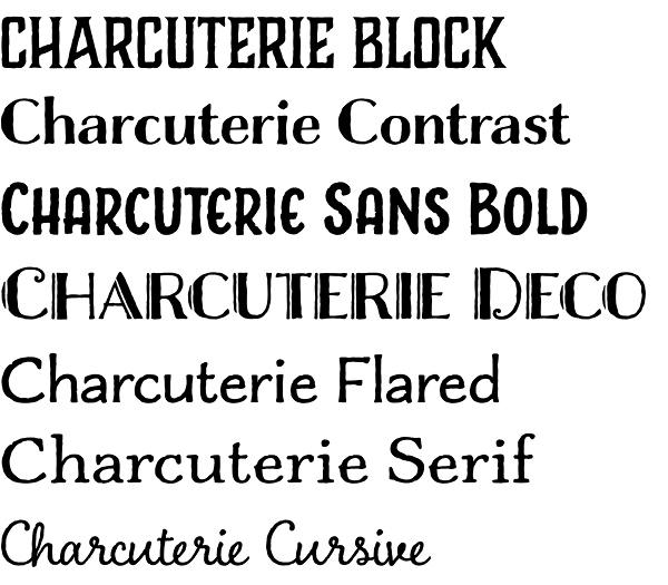 Charcuterie font