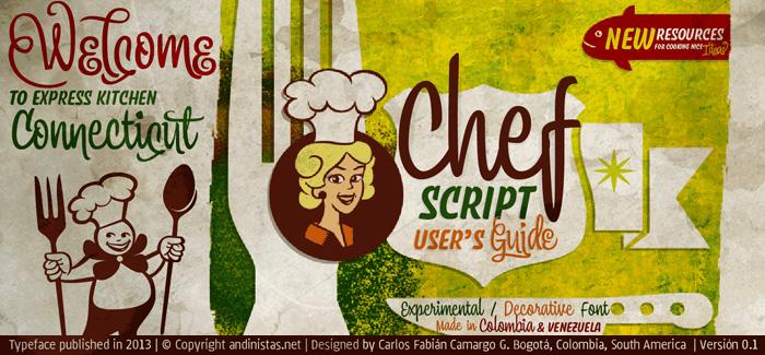 Chef Script font