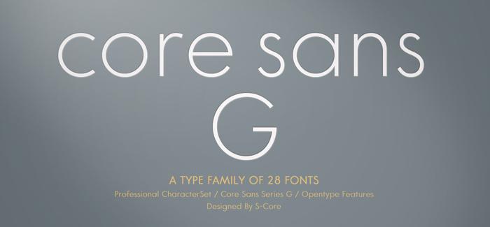 Core Sans G Family