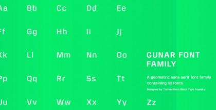 Gunar font