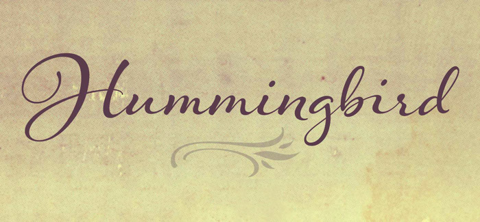 Laura 39 S Hummingbird Font Is Reminiscent Of Old Fashioned Penmanship
