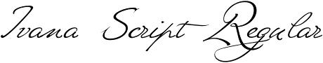 Ivana Script Regular font