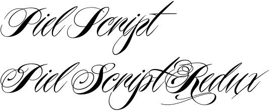 Piel Script font