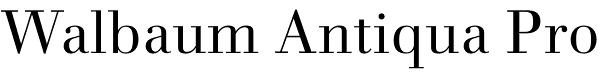 Walbaum Antiqua Pro font