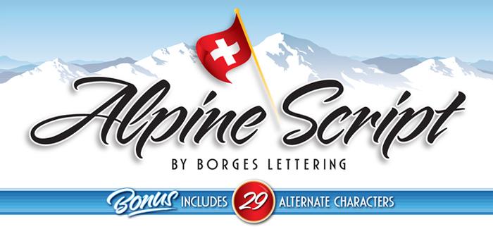 Alpine Script font