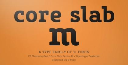 Core Slab M font
