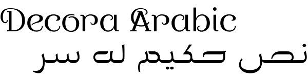 Decora Arabic font by Naghi Naghashian