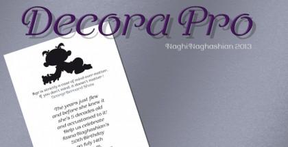 Decora Pro font
