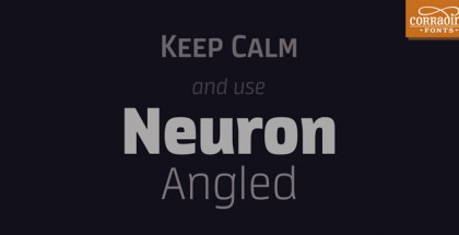 Neuron Angeled font
