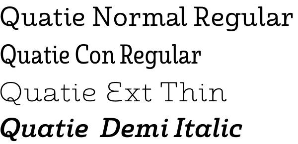 Quatie font