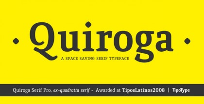 Quiroga Serif Pro font
