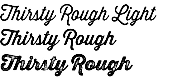 Thirsty Rough font from Yellow Design Studio