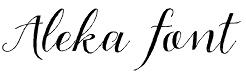 Aleka font